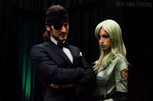 Tuxedo Snake and Sniper Wolf Cosplay by Leon Chiro by LeonChiroCosplayArt