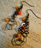 Steampunk Gearrings by salvagedsword