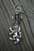 Crowned Lion Key Necklace by MythicalFolk