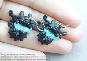 toothless tasty fish earrings by carmendee