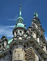 City Hall in Hamburg I by pingallery