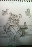 tiger drawing by nevaeh-lee