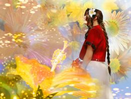 Flower girl - Aerith by FuriaeTheGoddess