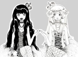 Black and White gothic lolita by xxxKei87xxx
