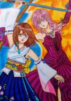Lightning and Yuna: Saviors of the souls by dagga19