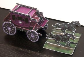 Deadlands 'Black Coach' Paper Model by JordanGreywolf