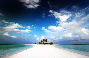 White Beach, Blue Sky by nxxos