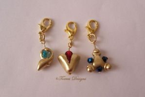 Spiritual Stones Charms Legend of Zelda OoT #9 by TorresDesigns
