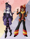 Lavender and Kana Redesigns by AliRose-Art