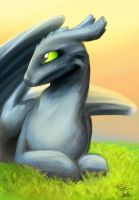 Toothless by FoxyTeah