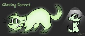 Ref: Glowing Ferret by Zenity