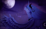I asked to the moon by Imalou