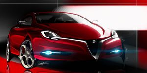 Alfa Romeo semi quick sketch by Whitesnake16