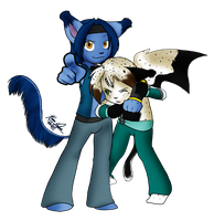 Devin and Abel by mewgal