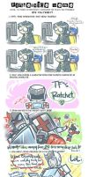 TF: Fanservice Meme - Ratchet by DoodleWEE