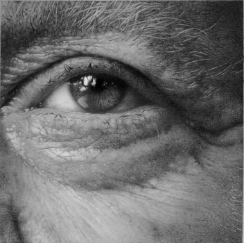 Eye study in pencil by arminmersmann