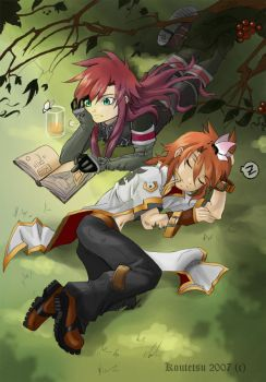 Asch and Luke by Koutetsu