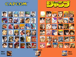 Shonen Jump VS Capcom : New Era Of Heroes by Crocadok