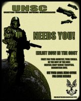 ODST Recruitment Poster by slart1bartfast