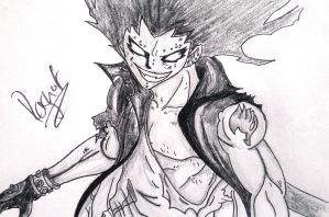 Gajeel Redfox | Thank you for 300 watchers! by Ragnof