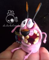 Courage the Cowardly Dog Zombie Figure by Aketzalidunkel