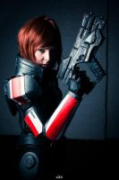 Femshep Cosplay - I'm the commander by nobuchi