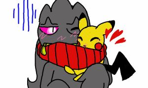 Bane and Pichu by Zezecookie69