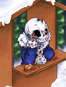 Horrortale Sans - He awaits your answer by booplebuns