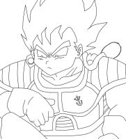 Kid Vegeta Lineart by Madara-13
