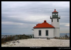 Alki Beach Lighthouse 2 by Krannichfeld