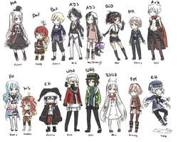 Roleplay Original Characters by bente36
