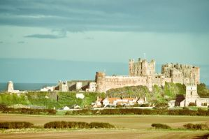 Bamburgh Castle X by scribbleXcore