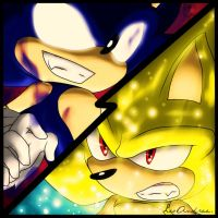 The epic final battle: Sonic vs Sonic by LoborianProductions
