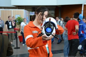 Chell cosplay - TGS Ohanami april 2013 by Naelia12