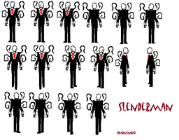 Slender Man 8 bit Incomplete by luXanSnake