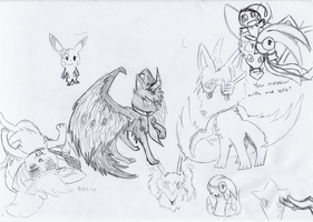 Sketches for Yellow and stuff by kage-niji