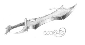 Sword design - Scorpio by WinterWerewolf