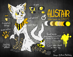 Alistair/Ghost Reference Sheet by HermiTheHusky