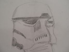 Stormtrooper Helmet Sketch by Technicallyderped