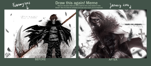 Draw again Shinigami Zarame by Pinlin