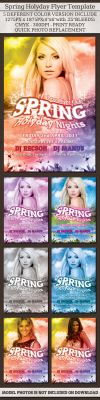 Spring Holyday Night Flyer by femographi