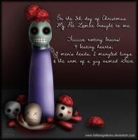 My Pet Zombie Christmas Day 5 by fallnangeltears