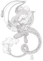 Oriental Dragon Ink by Scellanis