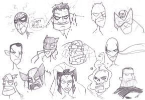 Random Marvel Doodles by striffle