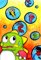 Wormie bubble bobble by Worm-love