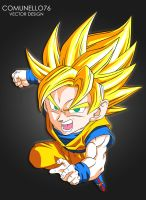 Kid goku vector art by Comunello76