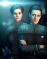 Julian Bashir and Jadzia Dax by Mecha-Potato-Alex
