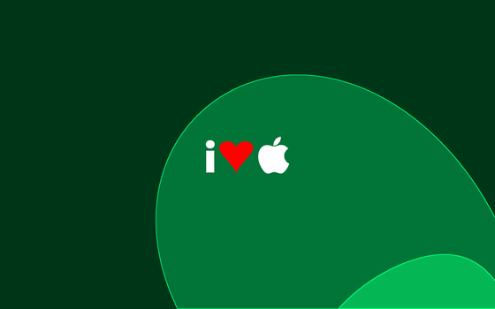 I Heart Apple Desktop Green2 by sigalakos