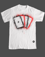 Aces Cracked Tee by bluffingpots
