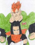 Android 16 protecting 17 by Syndrome-the-evil